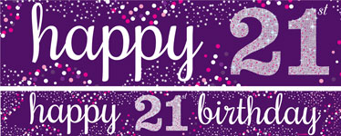 21st birthday banners personalized ; 21st-birthday-banner-yban043_p60