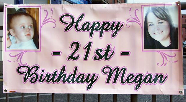 21st birthday banners personalized ; happy-21st-banner