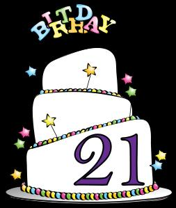 21st birthday borders ; 21st-birthday-party-clipart-1