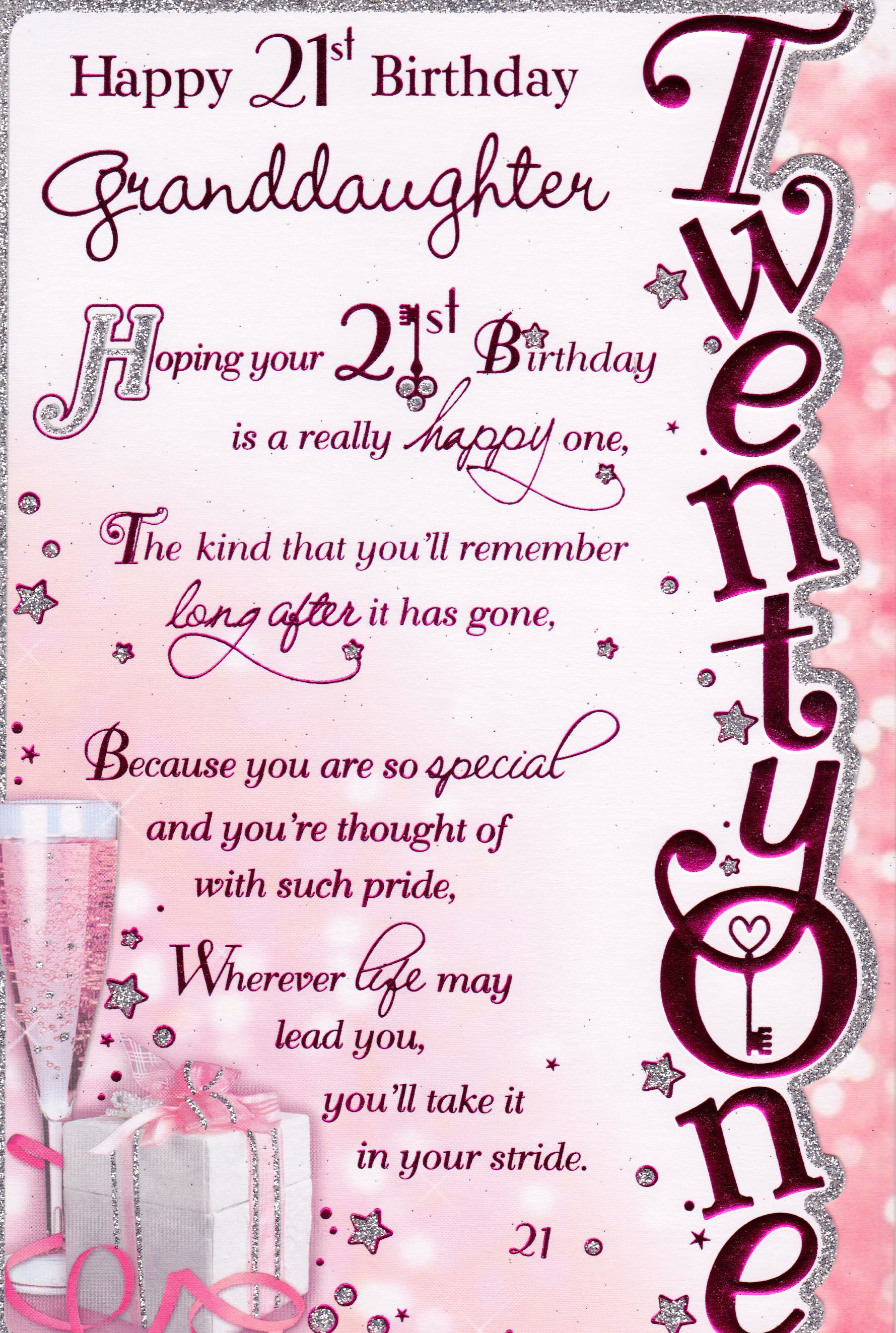 21st birthday greeting card messages ; 21st-birthday-messages-for-granddaughter-1