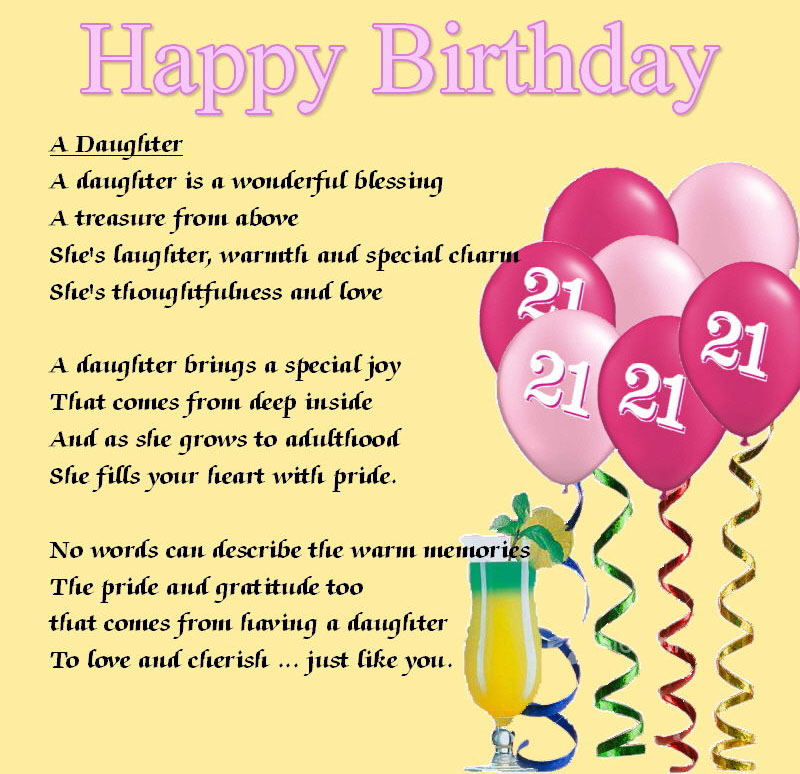 21st birthday greeting card messages ; 21st-birthday-wishes-daughter-1