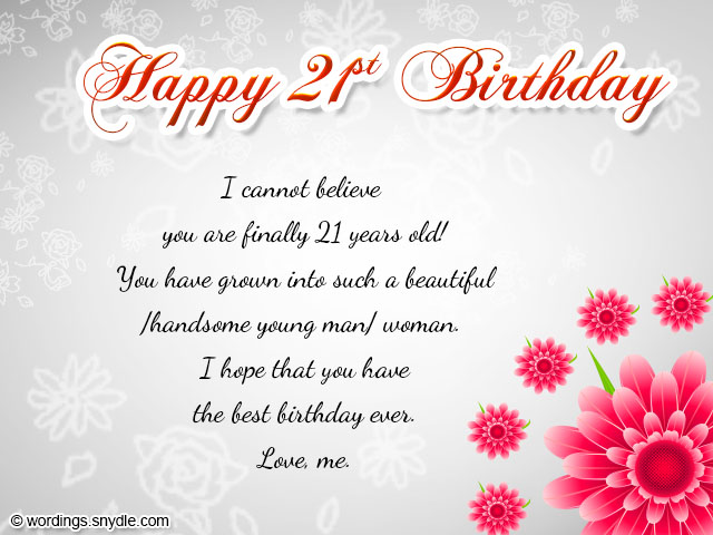 21st birthday greeting card messages ; 21st-birthday-wishes-for-son