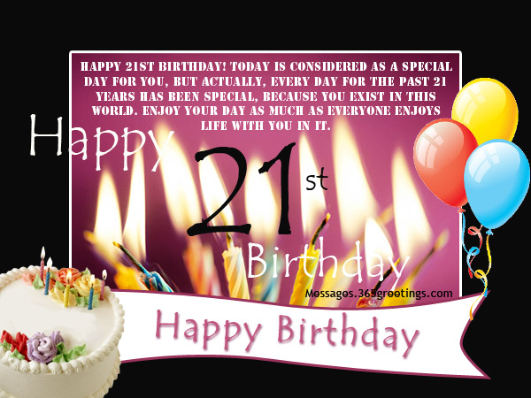 21st birthday greeting card messages ; 21st-birthday-wishes