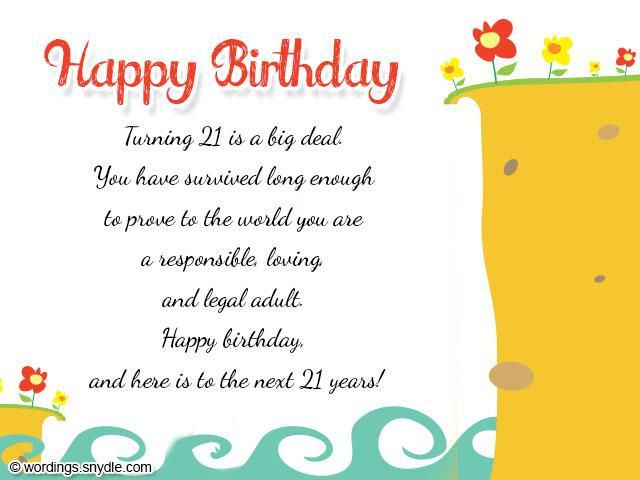 21st birthday greeting card messages ; 5a9b4e07493727369c5acc5f888d0e03