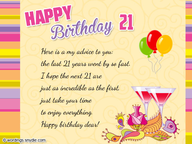 21st birthday greeting card messages ; 6ca5f6cf864a2224a71f7e04db204023