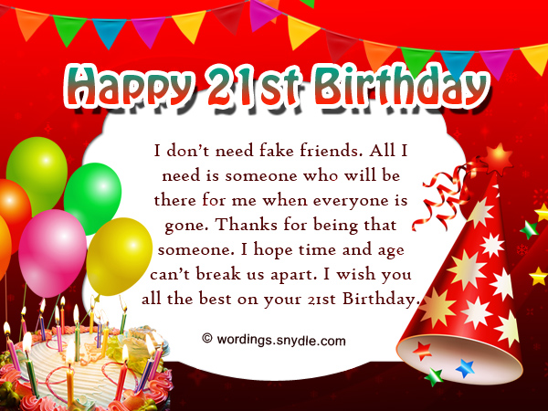 21st birthday greeting card messages ; funny-21st-birthday-wishes