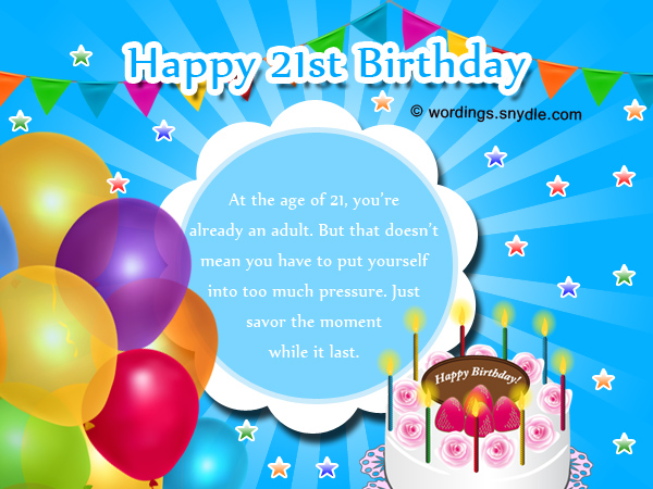 21st birthday greeting card messages ; happy-21st-birthday-wishes-and-messages