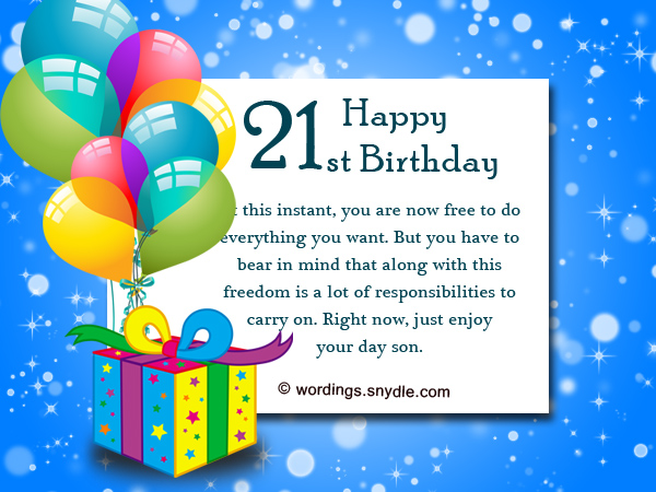21st birthday greeting card messages ; happy-21st-birthday-wishes-for-a-son