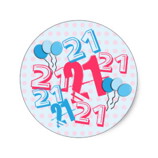 21st birthday stickers ; 21st_birthday_stickers_pink_dots-r2f0f27a5a0b84e0bb952ae8397247536_v9waf_8byvr_324