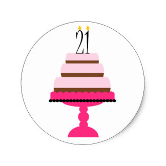 21st birthday stickers ; pink_tiered_cake_21st_birthday_stickers-r43210f7584b14c7db3eb09b6e28bf6c6_v9waf_8byvr_324