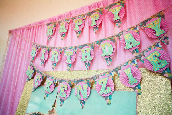 2nd birthday banner ; Cupcakes-and-Carousels-2nd-Birthday-Party-Via-Karas-Party-Ideas-KarasPartyIdeas-163
