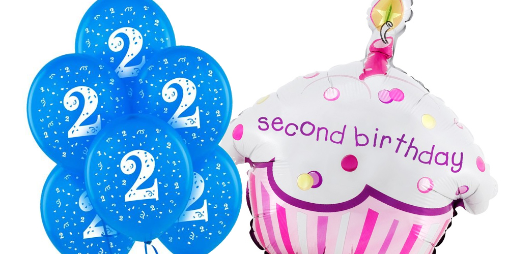 2nd birthday banners and balloons ; 2nd-birthday-balloons