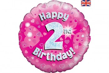 2nd birthday banners and balloons ; 55123