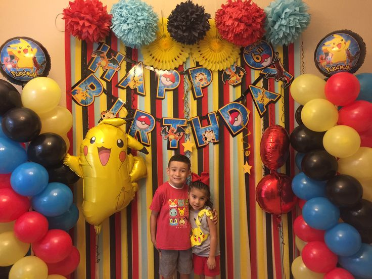 2nd birthday banners and balloons ; 9710be4f881a6e9c76dbb7121aea5d94--pokemon-birthday-party-decorations-diy-pokemon-themed-birthday-party