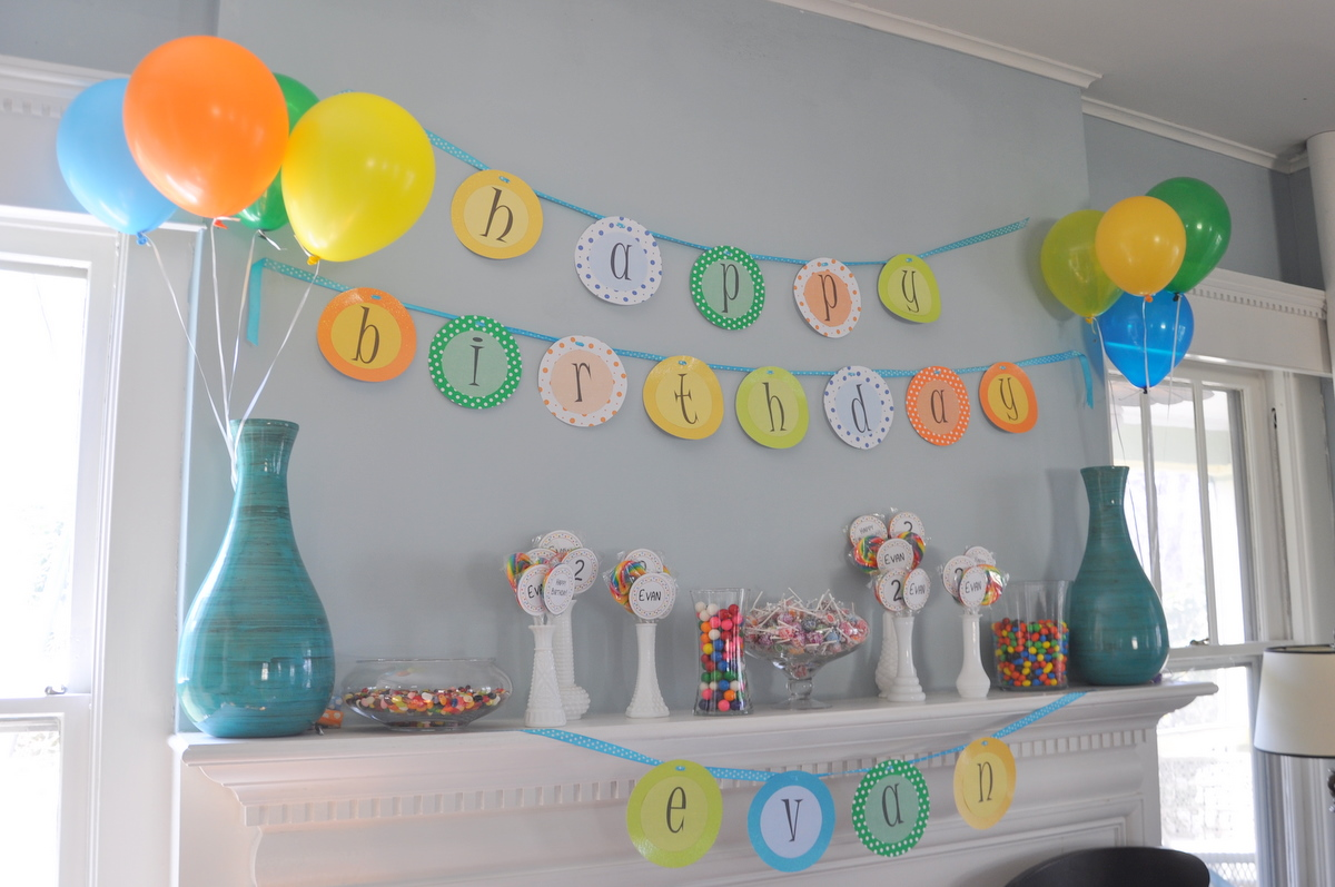 2nd birthday banners and balloons ; DSC_0912