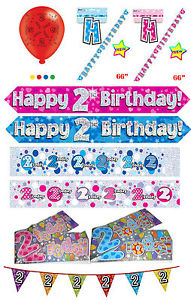2nd birthday banners and balloons ; s-l300