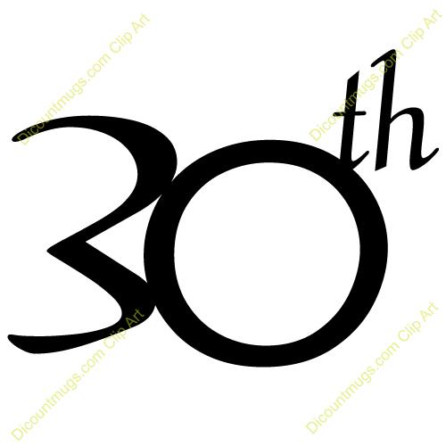 30th birthday clipart ; 30th-clipart-3