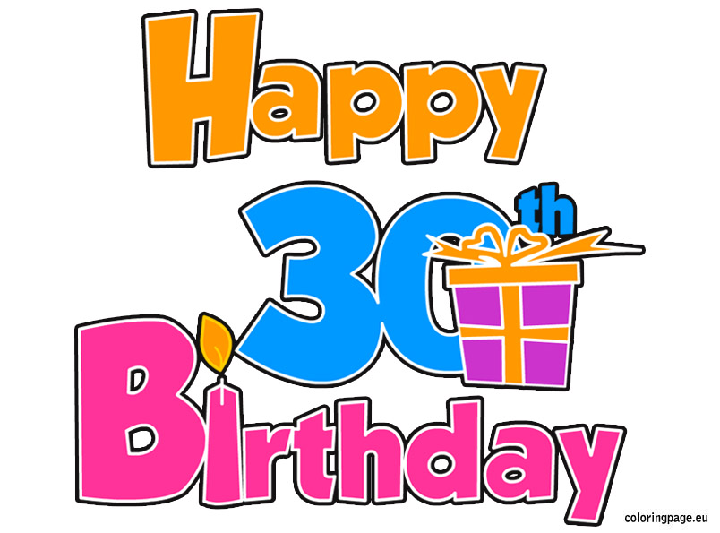 30th birthday clipart ; 80919