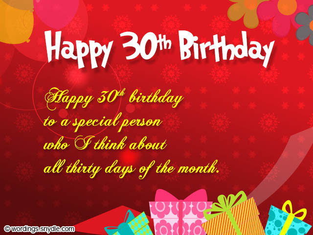 30th birthday greeting card messages ; 30th-birthday-greetings