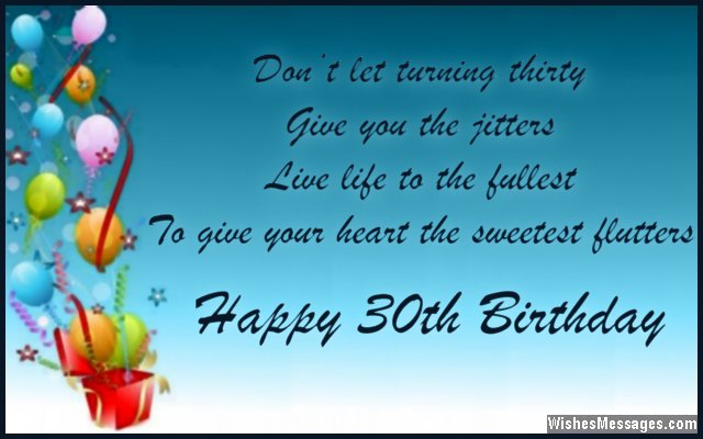 30th birthday greeting card messages ; Sweet-30th-birthday-greeting-card