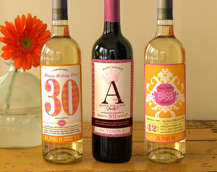30th birthday labels ; 275b67ded8a1d5735b435625223b1d02--custom-wine-labels-wine-bottle-labels