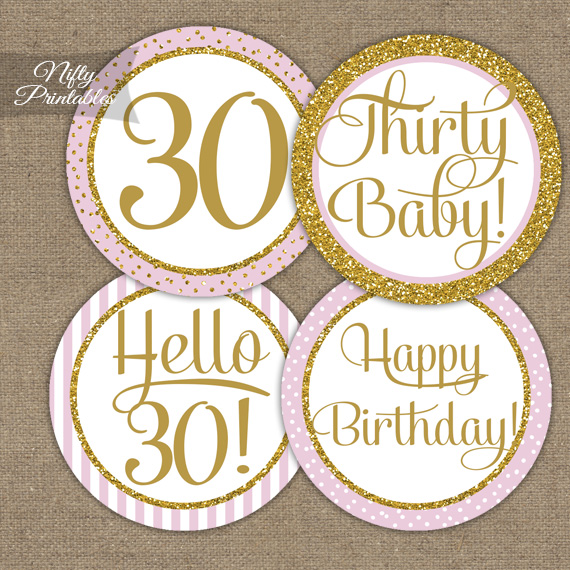 30th birthday labels ; 30-TopBI-PGL