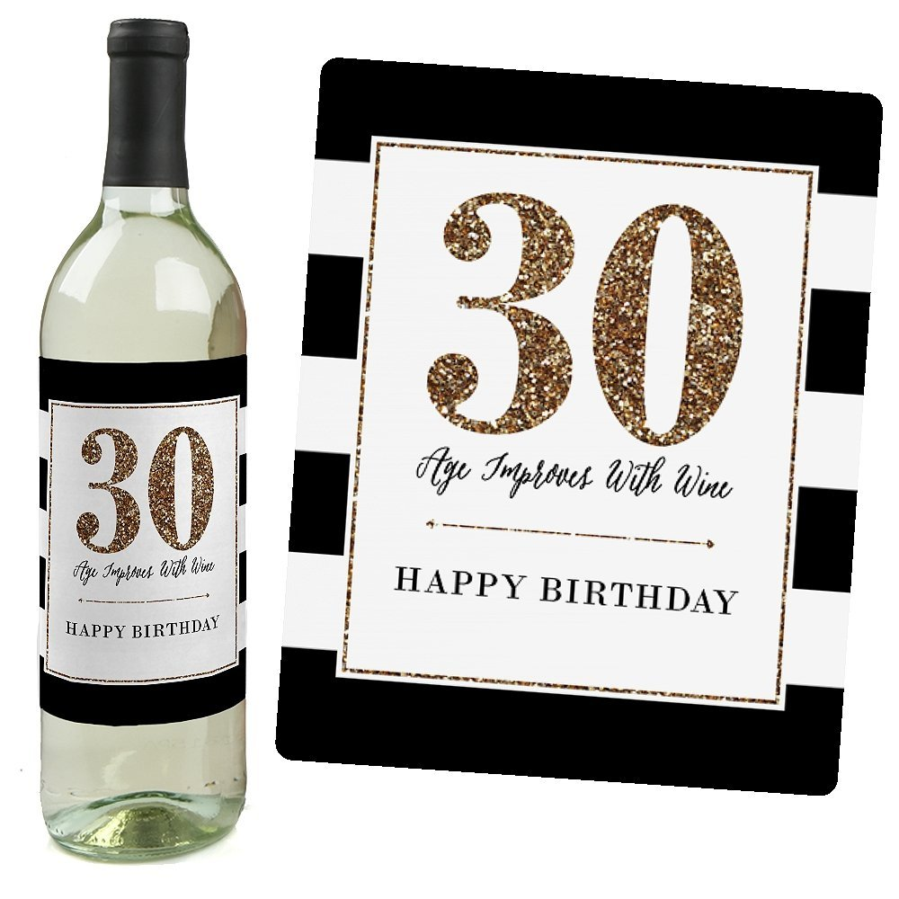 30th birthday labels ; 61PWORDexiL