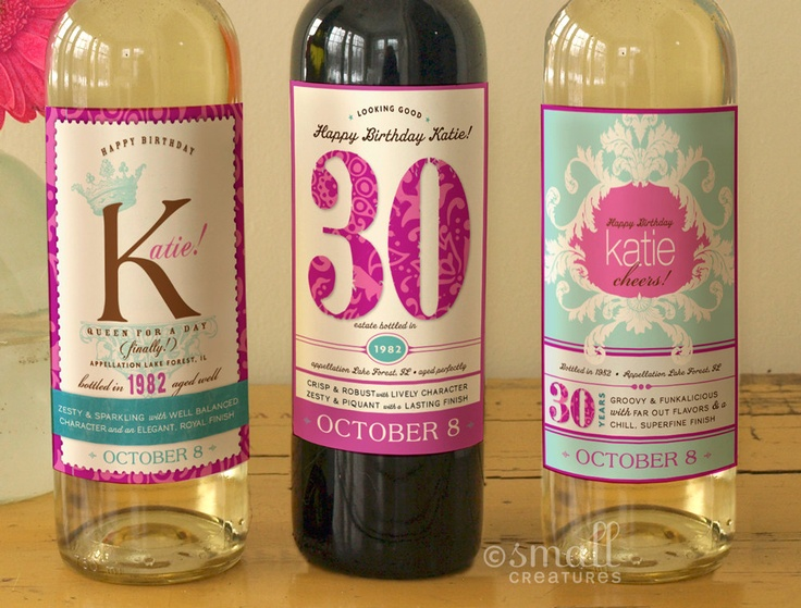 30th birthday labels ; custom-wine-labels-birthday_394076