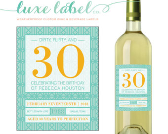30th birthday labels ; il_340x270