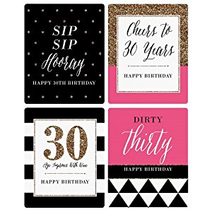 30th birthday labels ; jYBIynkQsO5