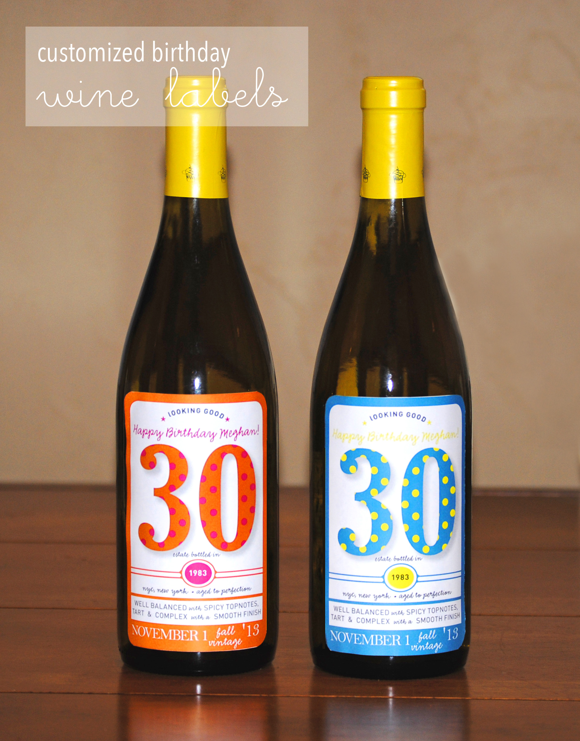 30th birthday labels ; wine_label