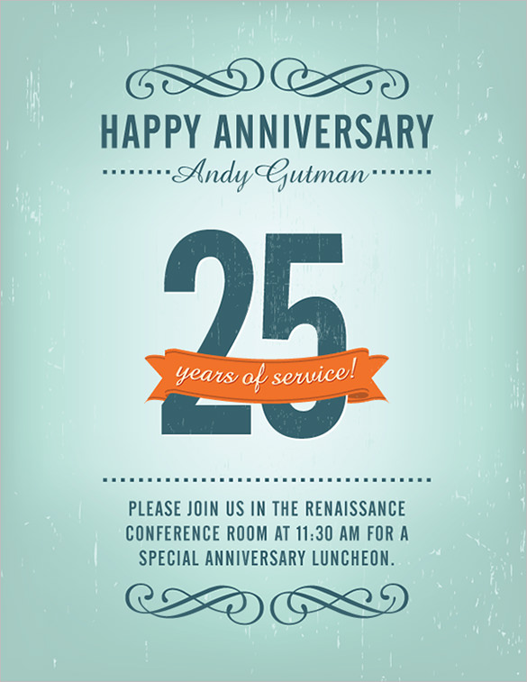 30th birthday poster templates ; Free-Anniversary-Flyer-Template-Download
