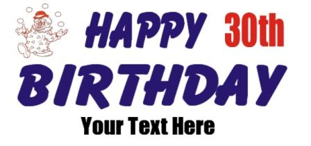 30th birthday signs to print ; 30birth3