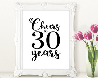 30th birthday signs to print ; il_340x270