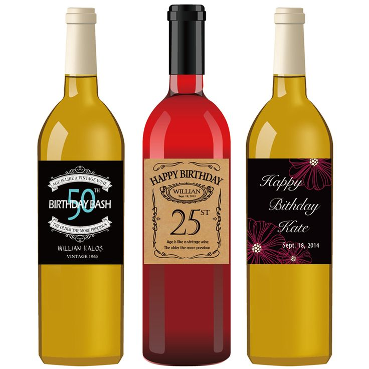 30th birthday wine bottle labels ; 205cf42dbb6dcb807035bd28aeda306e--unique-gifts-for-kids-bottle-labels