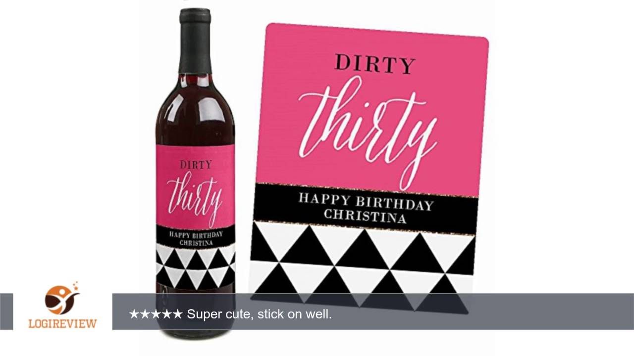 30th birthday wine bottle labels ; maxresdefault