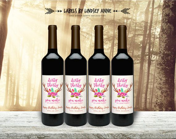 30th birthday wine labels ; 060fd46caa1914169407385acec3dd8c--thirty-birthday-th-birthday