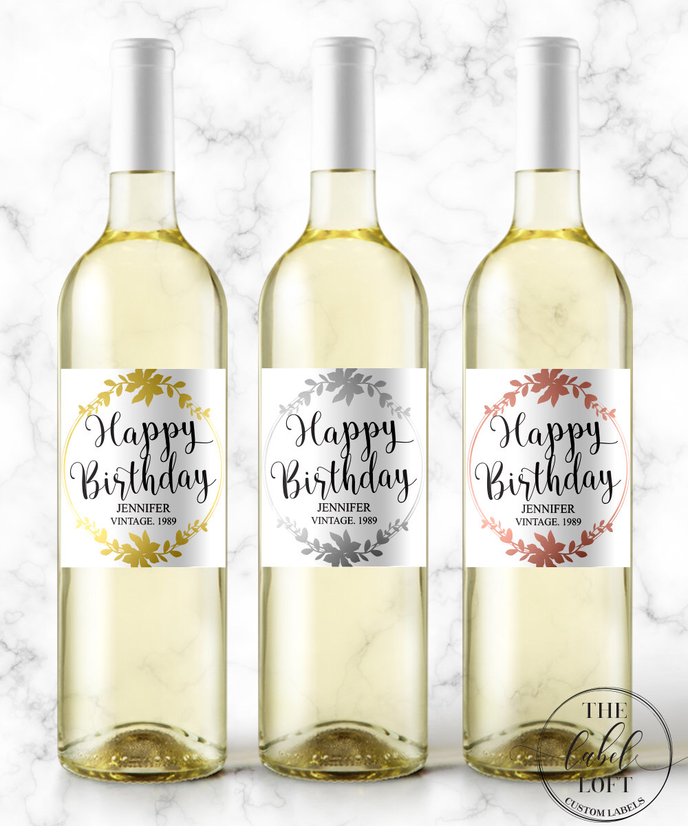 30th birthday wine labels ; 20a5e355b39f03dea3e58965bca8d01a