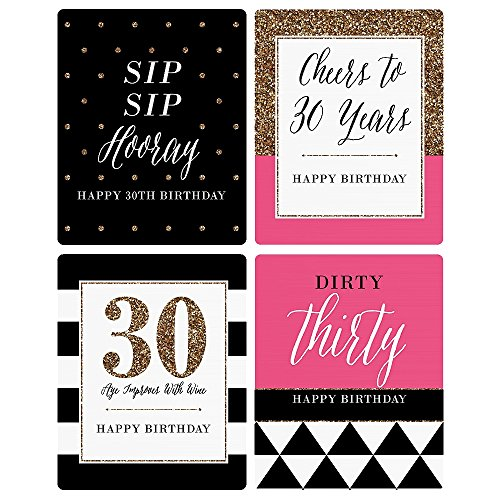 30th birthday wine labels ; 51P84fKJusL