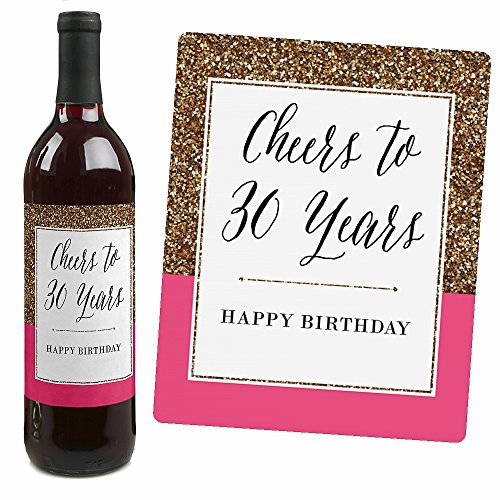 30th birthday wine labels ; 51uklzpfmoL