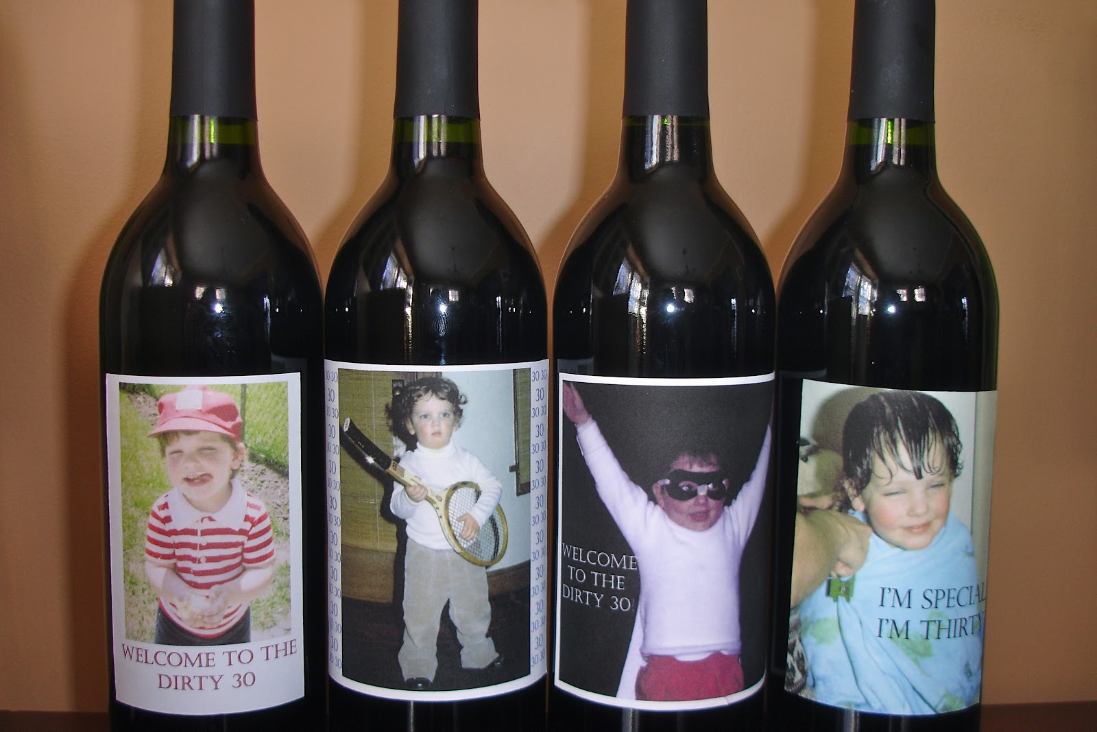30th birthday wine labels ; DSC00297