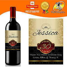 30th birthday wine labels ; wine-bottle-labels-1