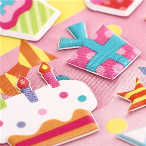 3d birthday stickers ; Happy-Birthday-3D-birthday-stickers-from-Japan-cake-presents-191365-4