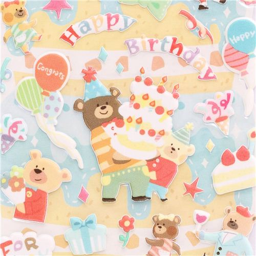 3d birthday stickers ; Happy-Birthday-3D-birthday-stickers-with-bear-from-Japan-cake-balloons-191366-1