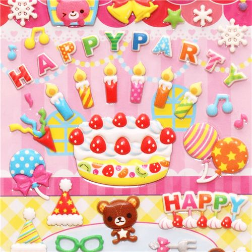 3d birthday stickers ; birthday-cake-party-balloon-3D-magic-stickers-180793-1