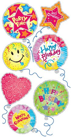 3d birthday stickers ; pesl227