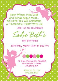 3rd birthday invitation quotes ; c4cd53948647bd5aad41d3053b281986--fairy-birthday-party-princess-birthday-parties