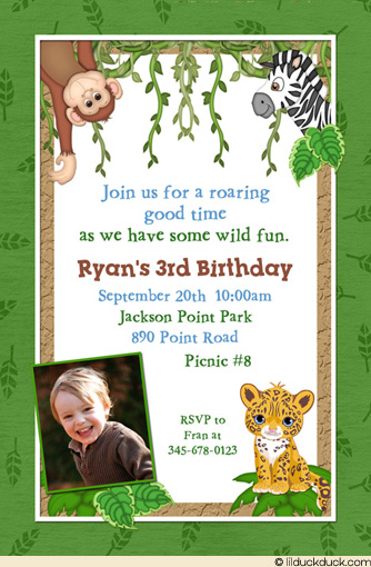 3rd birthday invitation quotes ; jungle-party-invitation-wording-leafy-jungle-safari-birthday-invitation-monkeys-lions
