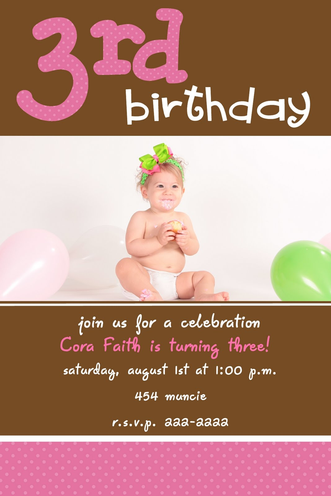 3rd birthday party invitation quotes ; 3rd_birthday_invitation_wording_template_5