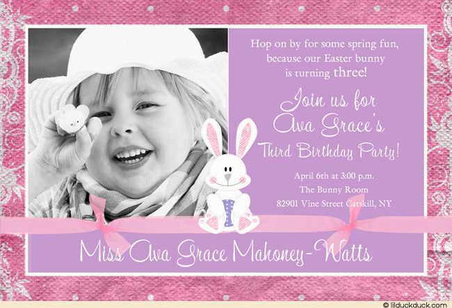 3rd birthday party invitation quotes ; bunny-new-1-photo-Easter-invitation-3rd-birthday-The-Best-10-3rd-Birthday-Invitation-Wording-Free-Download
